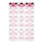 Pink Sock Monkeys on Pink White Argyle Diamond Stationery