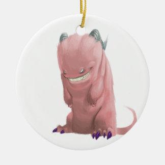 pink sock monster christmas ornament