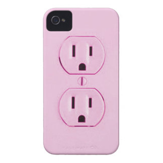 Pink Socket-iphone4 iPhone 4 Case