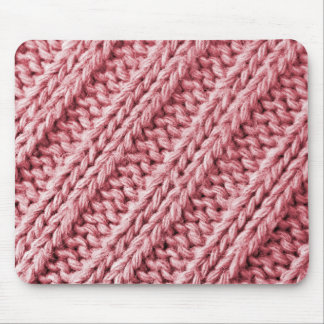 Pink soft knitted mouse pad