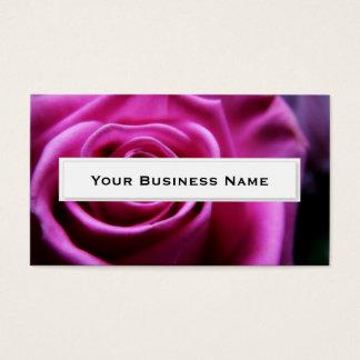 Pink Soft Rose flower Business Cards