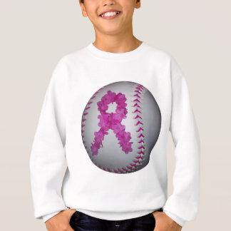 Pink Softball and Awareness Flower Ribbon Sweatshirt