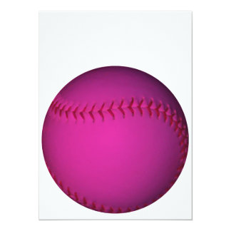 Pink Softball Card