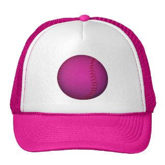 Pink Softball Trucker Hat