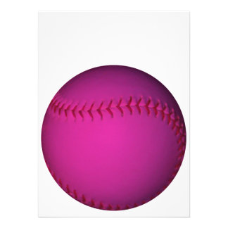 Pink Softball Personalized Invitation