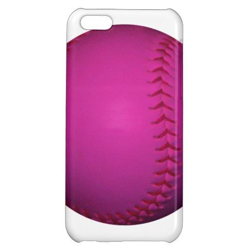 Pink Softball iPhone 5C Cases