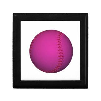 Pink Softball Keepsake Box