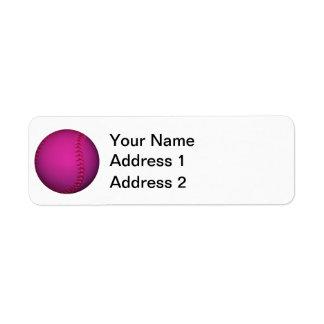 Pink Softball Label