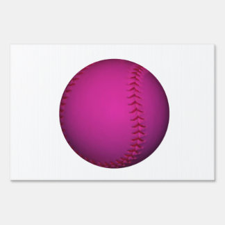 Pink Softball Lawn Sign