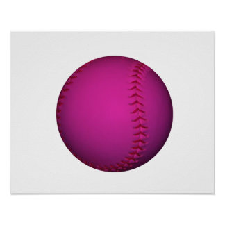 Pink Softball Poster