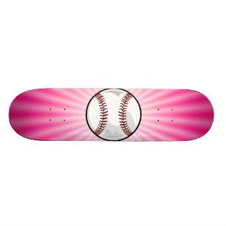Pink Softball Skate Deck