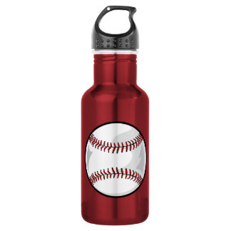 Pink Softball Stainless Steel Water Bottle