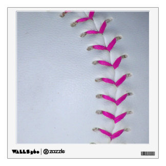 Pink Softball Stitches Wall Decal