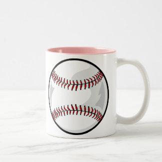 Pink Softball Two-Tone Coffee Mug