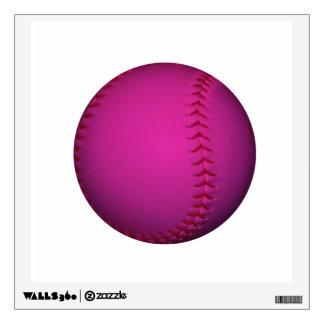 Pink Softball Wall Decal