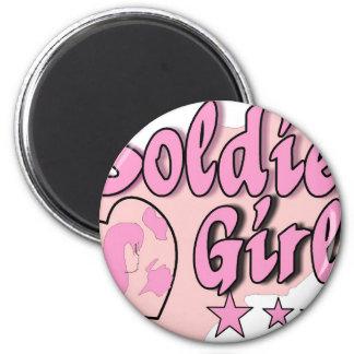 pink soldier girl splash complete magnet