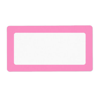 Pink solid color border blank custom shipping labels