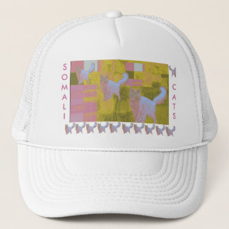 Pink Somali Cats Trucker Hat