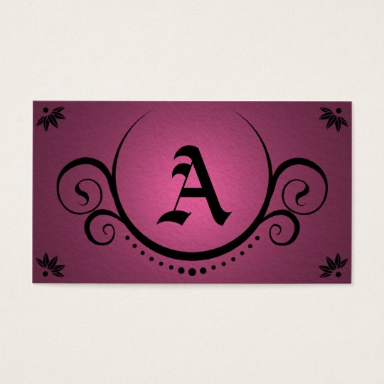 pink sophistications business card