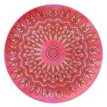 Pink Southwestern Flower Plate