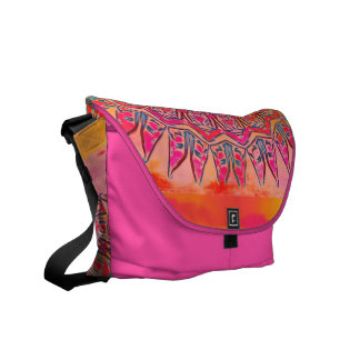 Pink Southwestern Style Purse Courier Bag