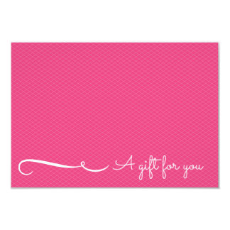 Pink Spa or Salon Gift Certificate 3.5x5 Paper Invitation Card