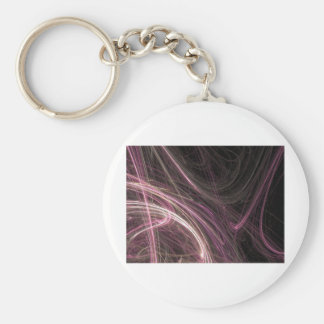 Pink Space Flow Abstract Halima Ahkdar Gear Keychain