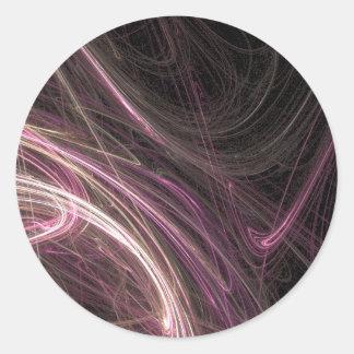 Pink Space Flow Abstract Halima Ahkdar Gear Classic Round Sticker