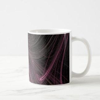 Pink Space Flow Groovy Starburst Pattern Cosmic Coffee Mug