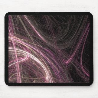 Pink Space Flow Groovy Starburst Pattern Cosmic Mousepads