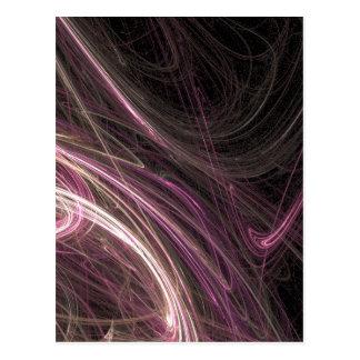 Pink Space Flow Groovy Starburst Pattern Cosmic Postcard