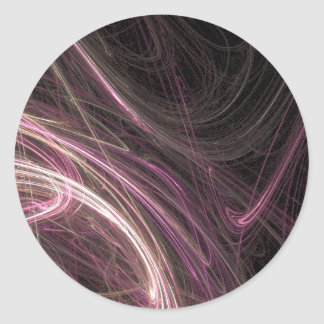 Pink Space Flow Groovy Starburst Pattern Cosmic Round Stickers
