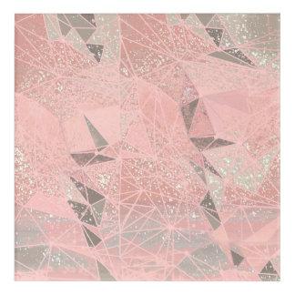 pink space geometry acrylic wall art