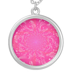 'pink Space' Necklace at Zazzle