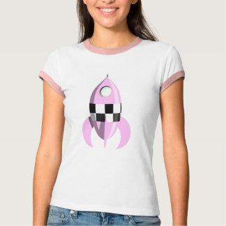 Pink Space Rocket T Shirt