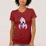 Pink Space Rocket Tee Shirts
