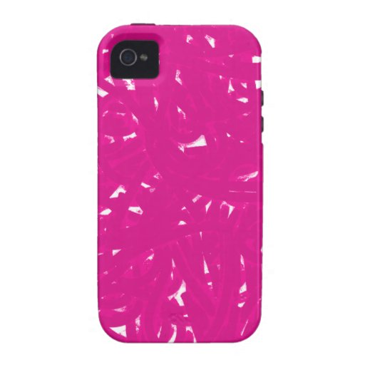 Pink Spaghetti Case-Mate iPhone 4 Covers