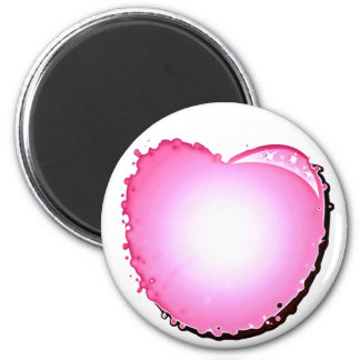 Pink Sparkle Bubble Heart Refrigerator Magnets