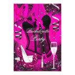 Pink Sparkle Celebration Bachelorette Invitation