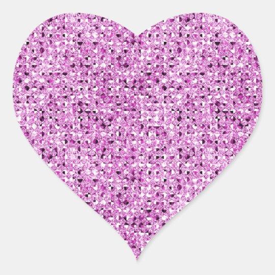 Pink Sparkle Effect Heart Sticker Sheets