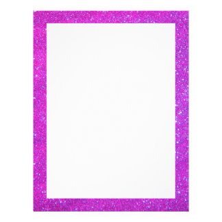 Pink Sparkle Glitter Girly Party Event Flyers Letterhead