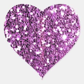 Pink Sparkle Glitter Look Heart Sticker