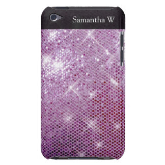 Pink Sparkle-Look Barely There iPod Cases