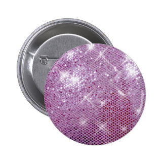 Pink Sparkle-Look Button