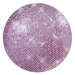Pink Sparkle-Look Dinner Plates