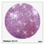Pink Sparkle-Look Room Stickers