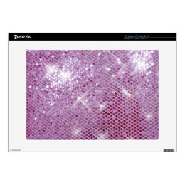 "Pink Sparkle-Look Skin For 15"" Laptop"