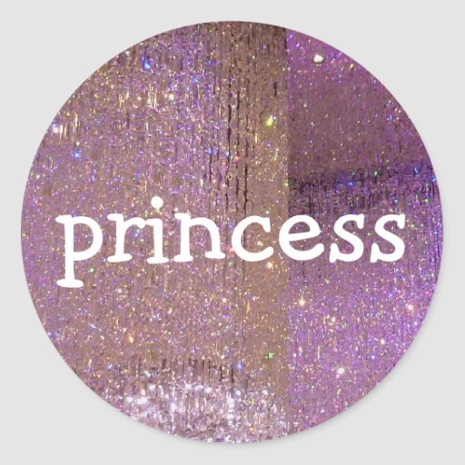 Pink sparkle princess crystal diamond stickers