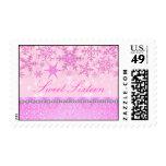 Pink Sparkle Snowflake Sweet16 Stamp