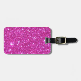 Pink Sparkle Sparkly Glitter Girly Girl Stuff Glam Bag Tag
